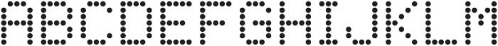 LED Dot-Matrix Regular otf (400) Font UPPERCASE