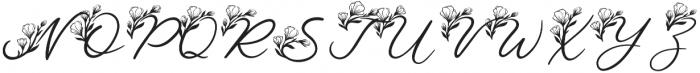 LeJardin Floral otf (400) Font UPPERCASE