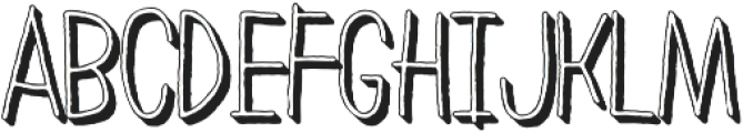 LeOsler Rough Shadow Light otf (300) Font UPPERCASE