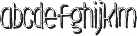 LeOsler Rough Shadow Light otf (300) Font LOWERCASE