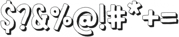 LeOsler Rough Shadow Regular otf (400) Font OTHER CHARS