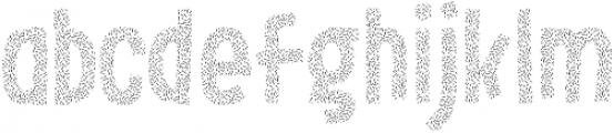 LeOsler Sprinkles Regular ttf (400) Font LOWERCASE