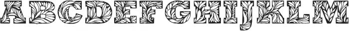 Leaffy otf (400) Font UPPERCASE