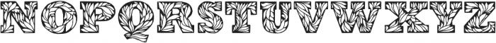 Leaffy otf (400) Font LOWERCASE