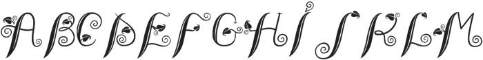 LeafyTales otf (300) Font UPPERCASE