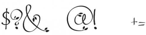 Leafyction otf (400) Font OTHER CHARS