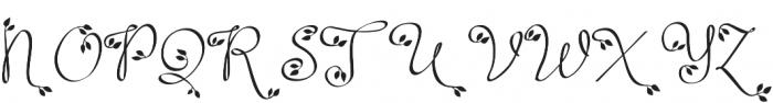 Leafyction otf (400) Font UPPERCASE