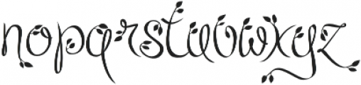 Leafyction otf (400) Font LOWERCASE