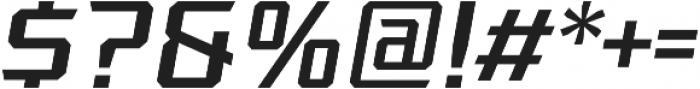 League 105 Light Oblique otf (300) Font OTHER CHARS