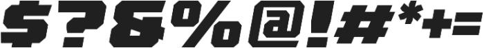 League 250 Black Oblique otf (900) Font OTHER CHARS