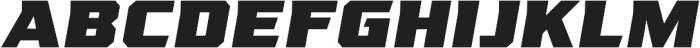 League 250 Black Oblique otf (900) Font LOWERCASE