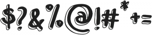 Leah Gaviota Double otf (400) Font OTHER CHARS