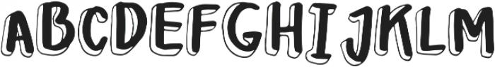Leah Gaviota Double otf (400) Font UPPERCASE