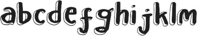 Leah Gaviota Double otf (400) Font LOWERCASE