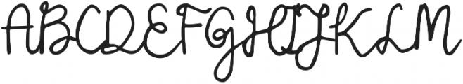 Leah Gaviota Script otf (400) Font UPPERCASE