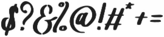 Leatherhand otf (400) Font OTHER CHARS