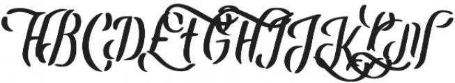 Leatherhand otf (400) Font UPPERCASE