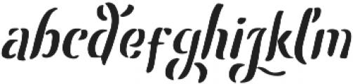 Leatherhand otf (400) Font LOWERCASE