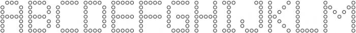 Led Outline Regular otf (400) Font UPPERCASE