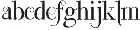 Lefina otf (400) Font LOWERCASE