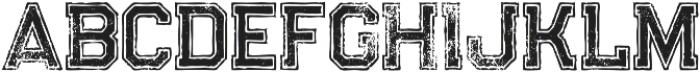 Legacy Outline Bold Grunge otf (700) Font UPPERCASE