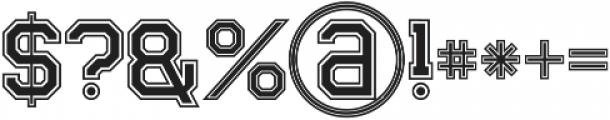 Legacy Outline Bold otf (700) Font OTHER CHARS