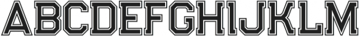 Legacy Outline Bold otf (700) Font UPPERCASE