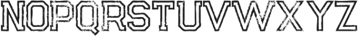 Legacy Outline Grunge otf (400) Font LOWERCASE