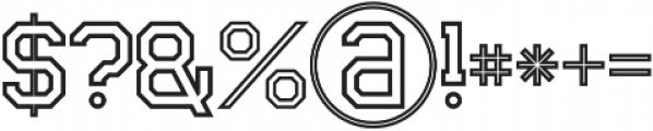 Legacy Outline otf (400) Font OTHER CHARS