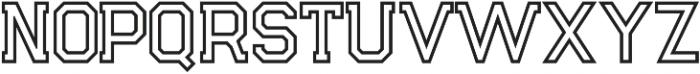Legacy Outline otf (400) Font UPPERCASE