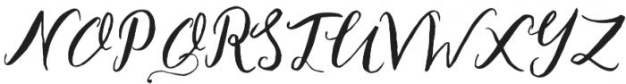 Legacy Script Regular otf (400) Font UPPERCASE
