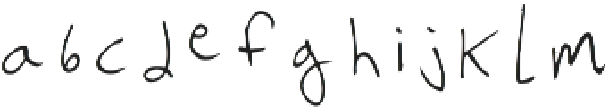 Legible Doctor Regular otf (400) Font LOWERCASE