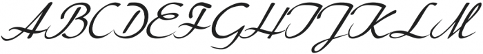 Lemillon Italic otf (400) Font UPPERCASE