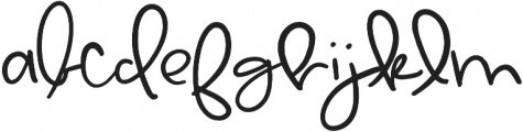 Lemon Drop Regular otf (400) Font LOWERCASE