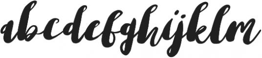Lemonade otf (400) Font LOWERCASE