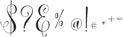 Lemonsalt Script Regular otf (400) Font OTHER CHARS