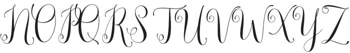 Lemonsalt Script Regular otf (400) Font UPPERCASE