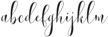 Lemonsalt Script Regular otf (400) Font LOWERCASE