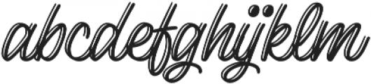Lento display otf (400) Font LOWERCASE