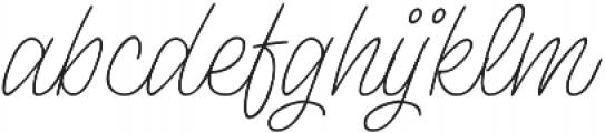 Lento otf (400) Font LOWERCASE