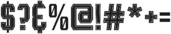 Leophard Bold Inline otf (700) Font OTHER CHARS