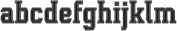 Leophard Bold Inline otf (700) Font LOWERCASE