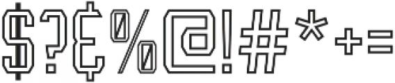 Leophard Outline otf (400) Font OTHER CHARS