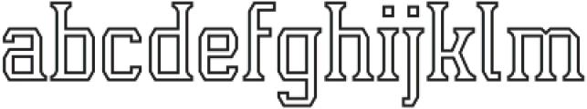 Leophard Outline otf (400) Font LOWERCASE