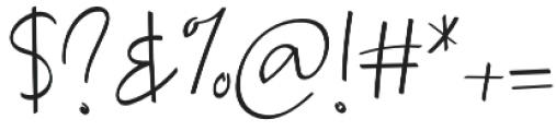Lesliecy otf (400) Font OTHER CHARS