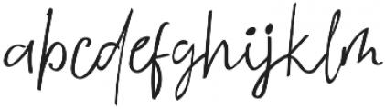 Lesliecy otf (400) Font LOWERCASE