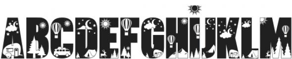 Let's Go Camping Regular otf (400) Font LOWERCASE