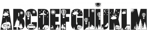 Let's Go Camping otf (400) Font LOWERCASE