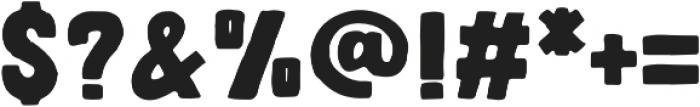 Letter Sketch Bold otf (700) Font OTHER CHARS
