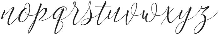 Lettuce otf (400) Font LOWERCASE